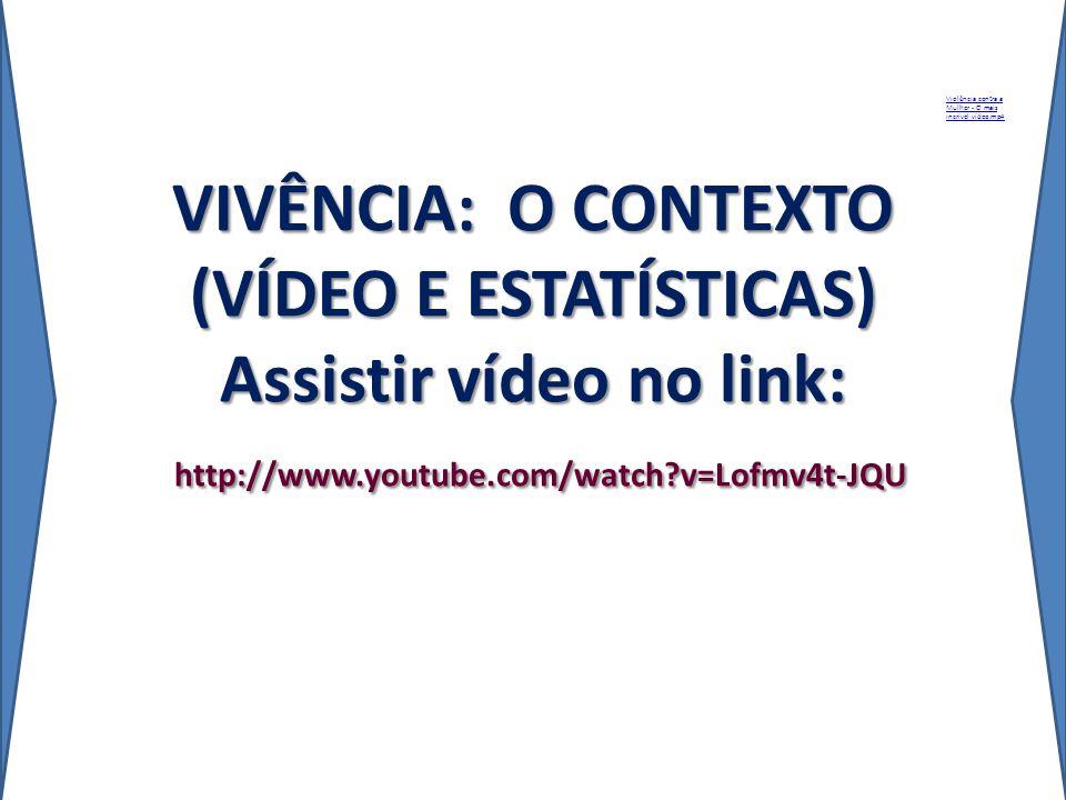 VIVÊNCIA: O CONTEXTO (VÍDEO E ESTATÍSTICAS) Assistir vídeo no link: http://www.youtube.com/watch?v=Lofmv4t-JQU Violência contra a Mulher - O mais incr