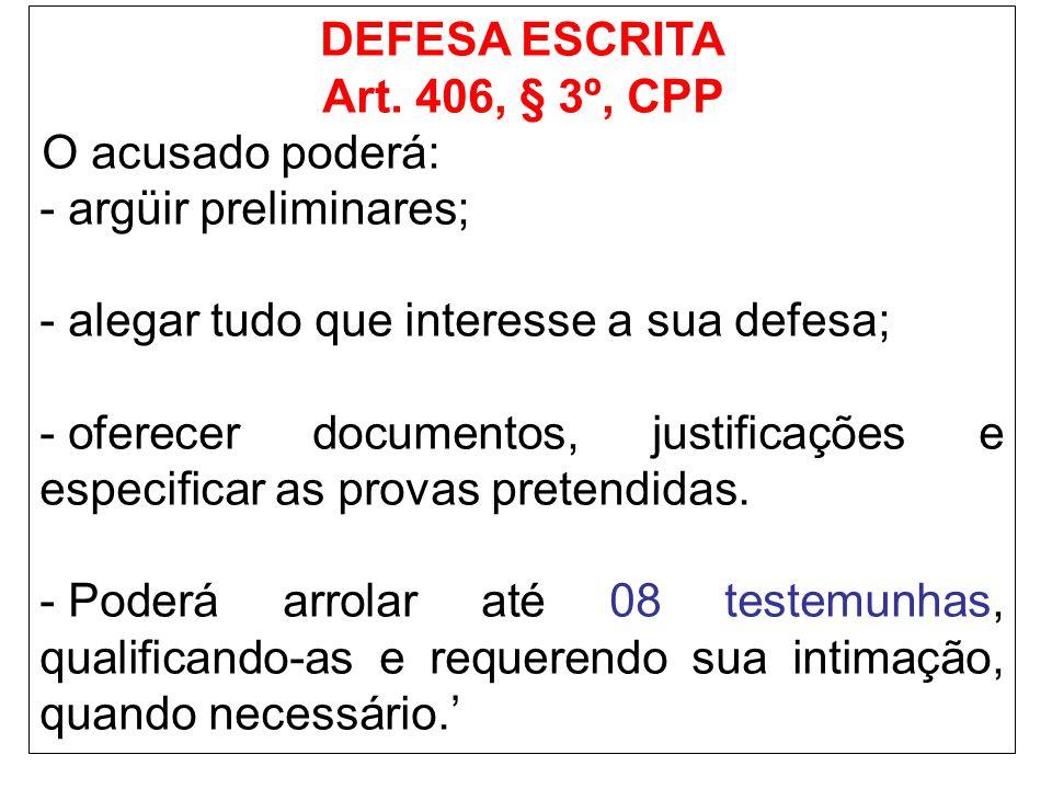 DEFESA ESCRITA Art.