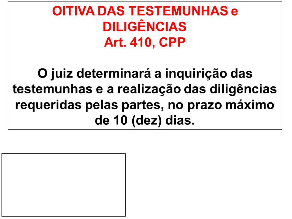 AUDIÊNCIA DE INSTRUÇÃO Art.