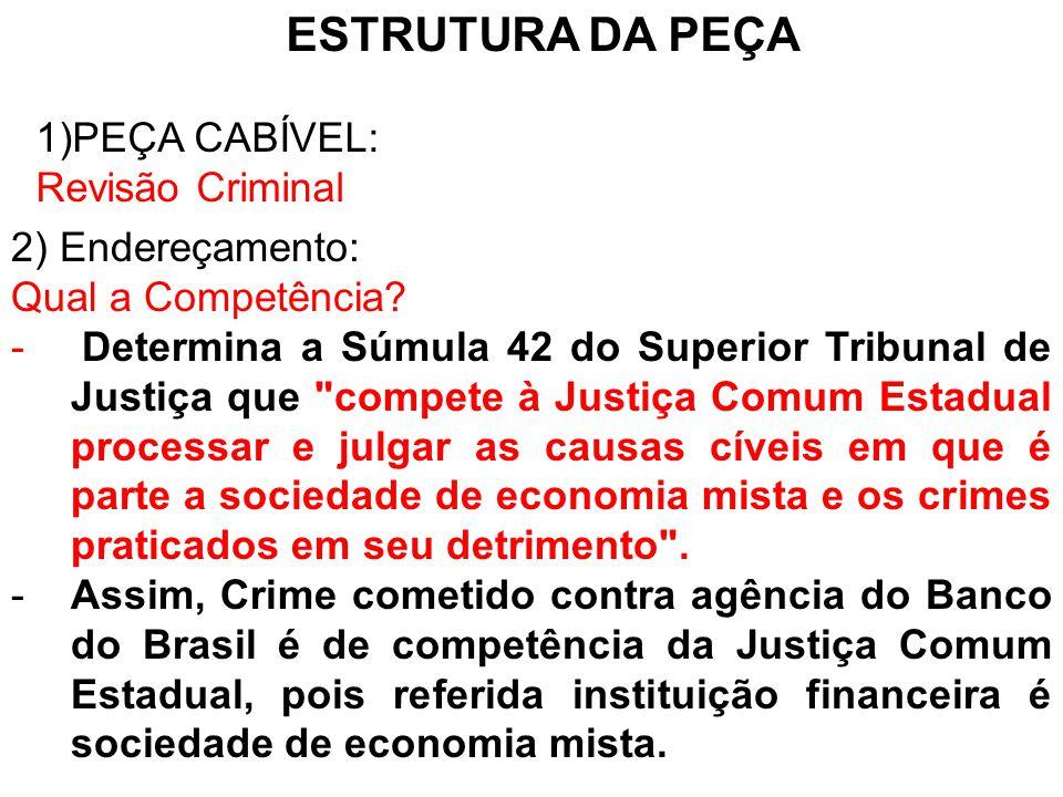3) Fundamentos Legais: Artigo 621, I, c.c.
