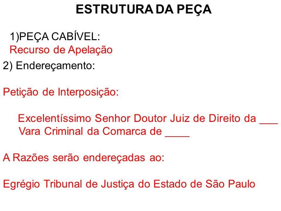 3) Fundamentos Legais: Artigo 593, I do Código de Processo Penal