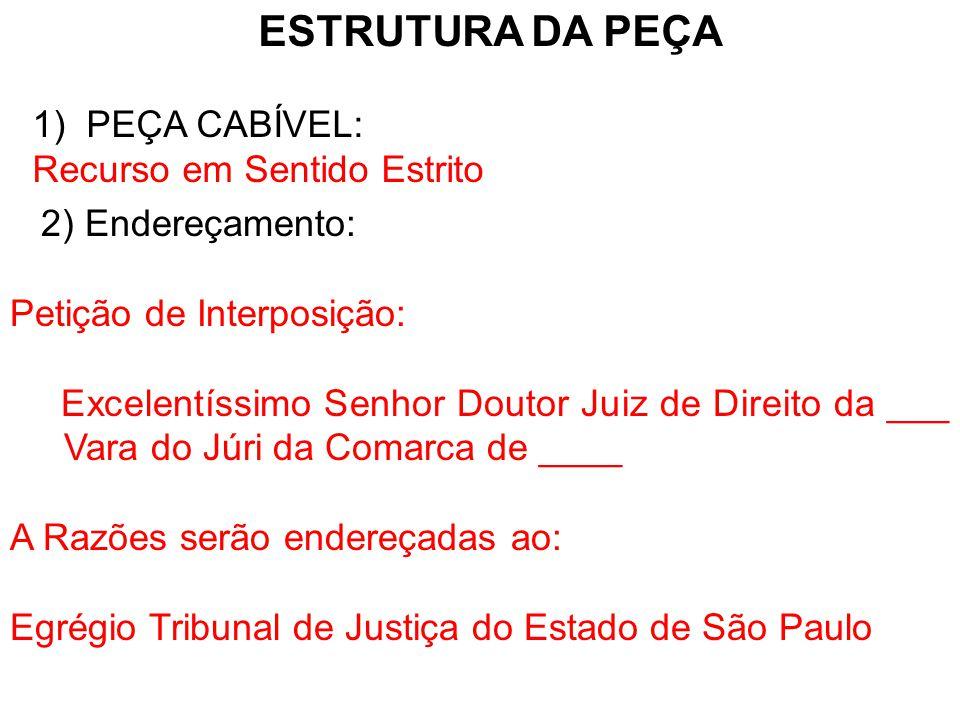 3) Fundamentos Legais: Artigo 581, IV do Código de Processo Penal