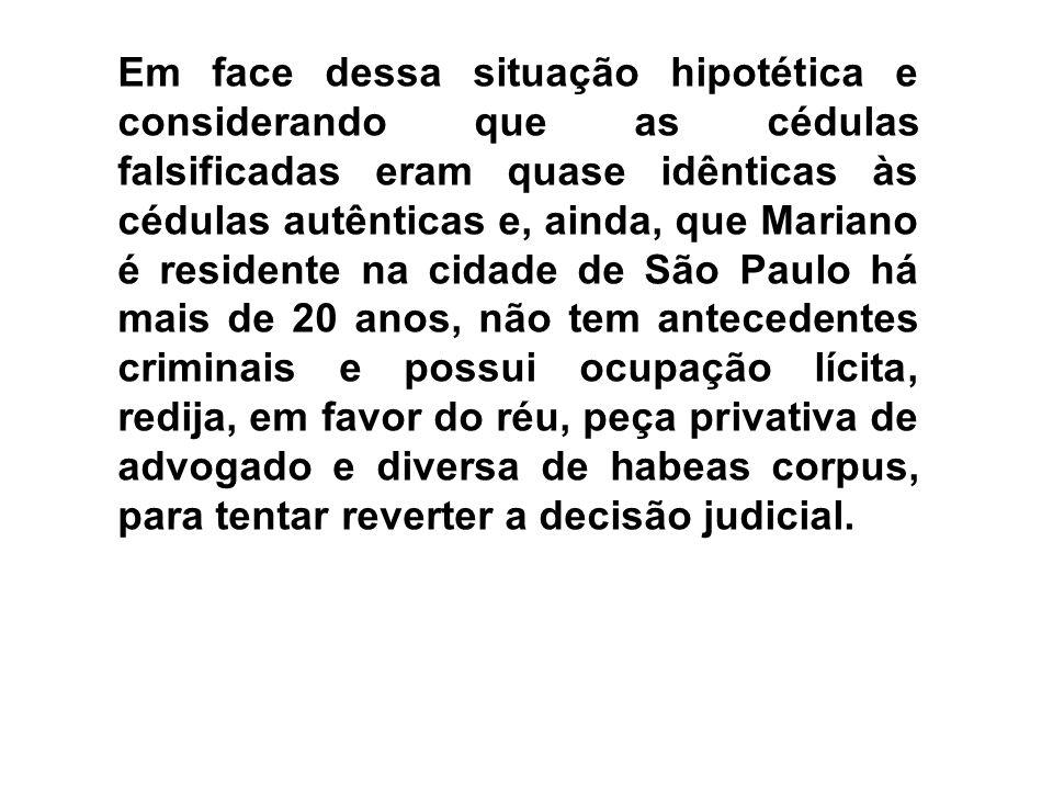 ESTRUTURA DA PEÇA 1)PEÇA CABÍVEL: Revogação da Prisão Preventiva 3) Fundamentos Legais: Artigo 316 do Código de Processo Penal 2) Endereçamento: (Competência da Justiça Federal (art.