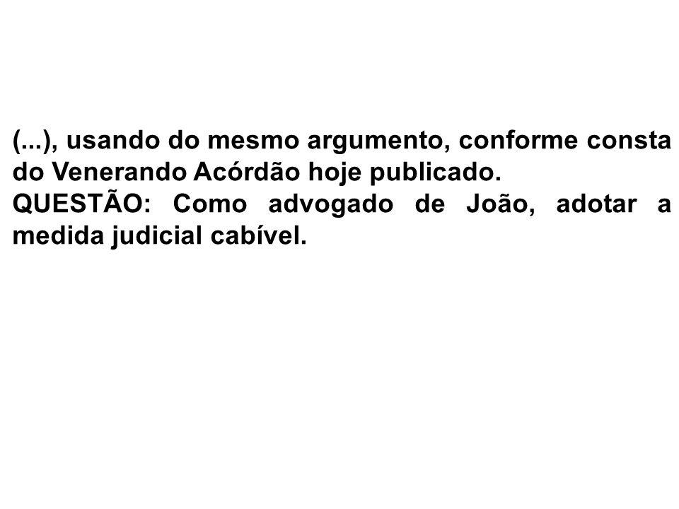 ESTRUTURA DA PEÇA 1)PEÇA CABÍVEL: Recurso Ordinário Constitucional 2) Endereçamento: Petição de Interposição: Excelentíssimo Senhor Doutor Desembargador Presidente do Egrégio Tribunal de Justiça do Estado de São Paulo.