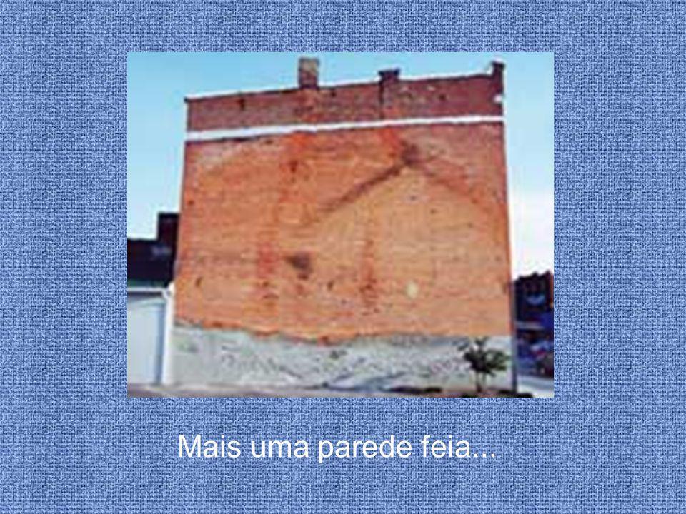 Outra vista da parede pintada!