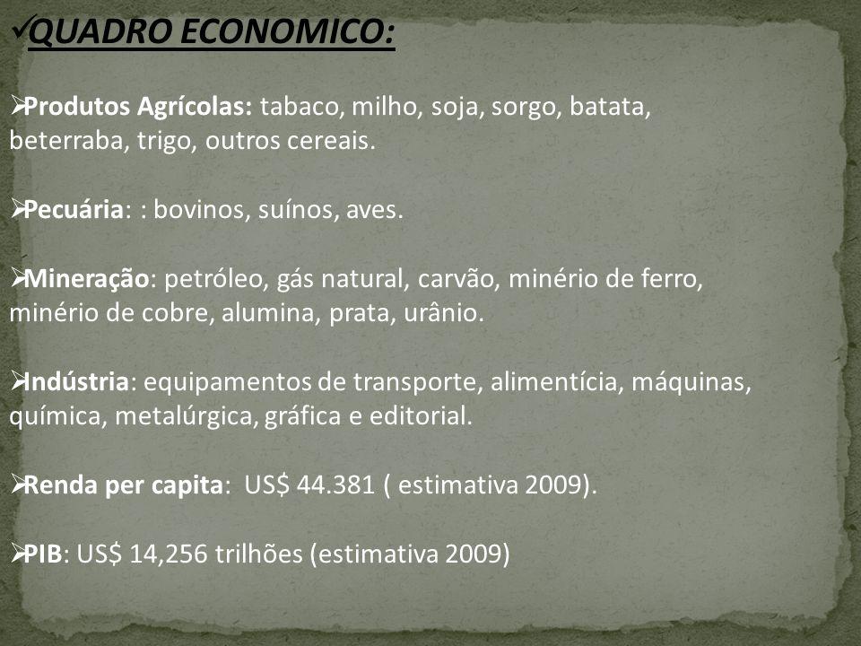 A economia dos Estados Unidos é a maior economia nacional do mundo.Seu produto interno bruto nominal (PIB) foi estimado em 14,2 trihões dólares em 2009 que é aproximadamente três vezes maior do que a segunda maior economia nacional do mundo, o Japão.