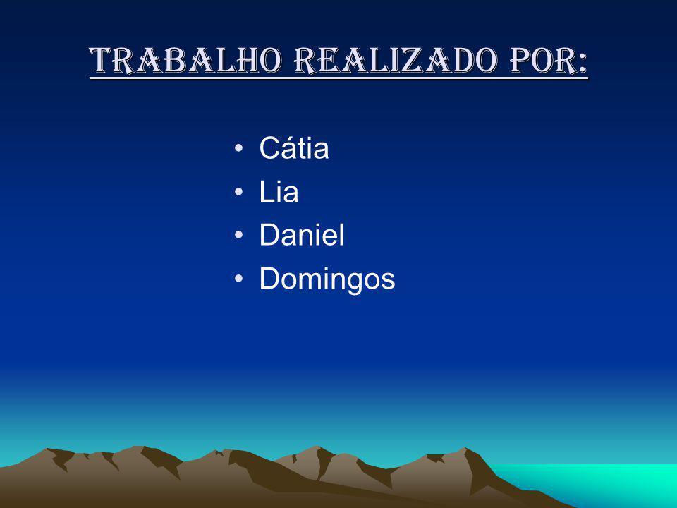 Trabalho realizado por: Cátia Lia Daniel Domingos