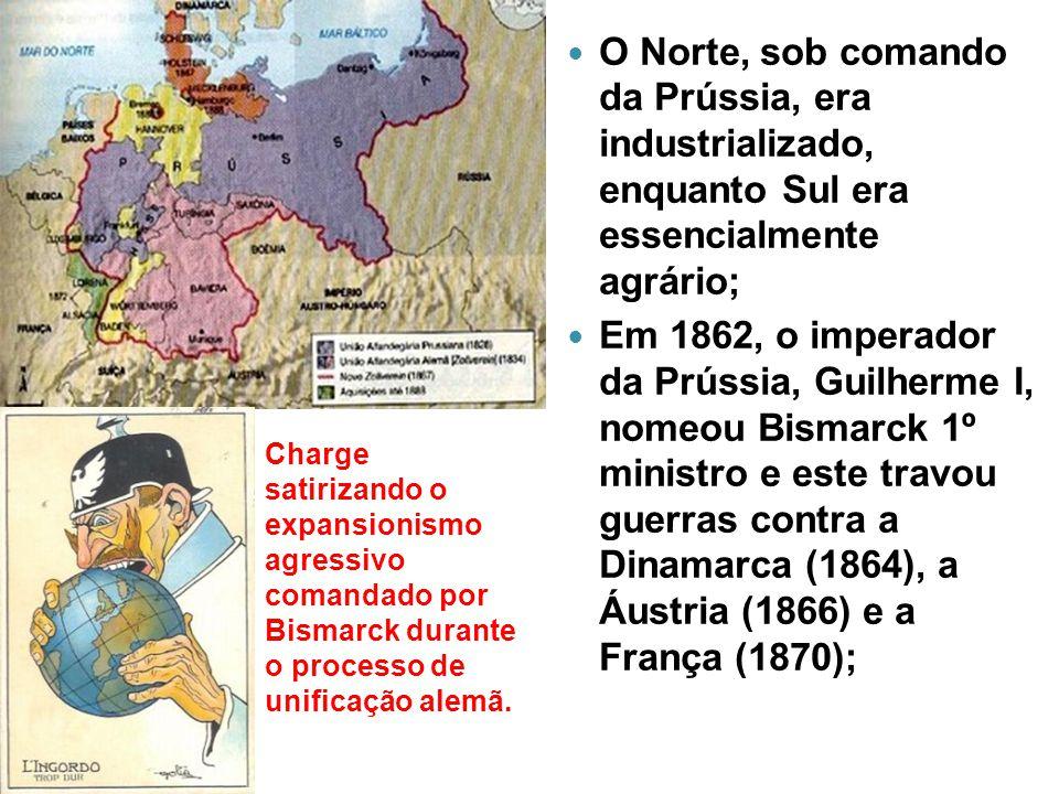 O Norte, sob comando da Prússia, era industrializado, enquanto Sul era essencialmente agrário; Em 1862, o imperador da Prússia, Guilherme I, nomeou Bi