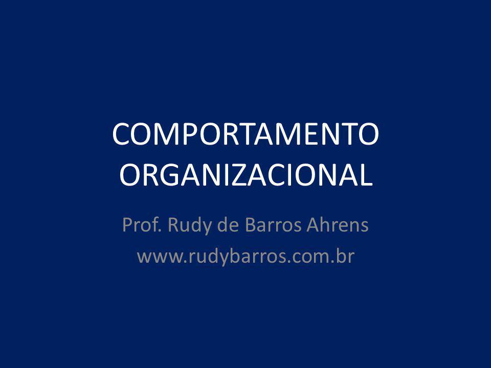 COMPORTAMENTO ORGANIZACIONAL Prof. Rudy de Barros Ahrens www.rudybarros.com.br