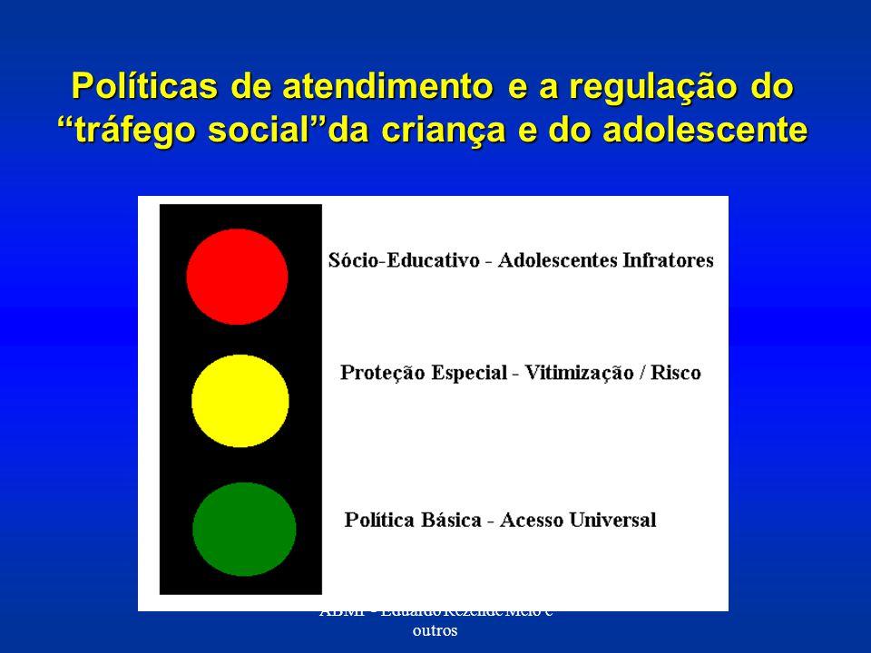 Políticas de atendimento e a regulação do tráfego socialda criança e do adolescente ABMP - Eduardo Rezende Melo e outros