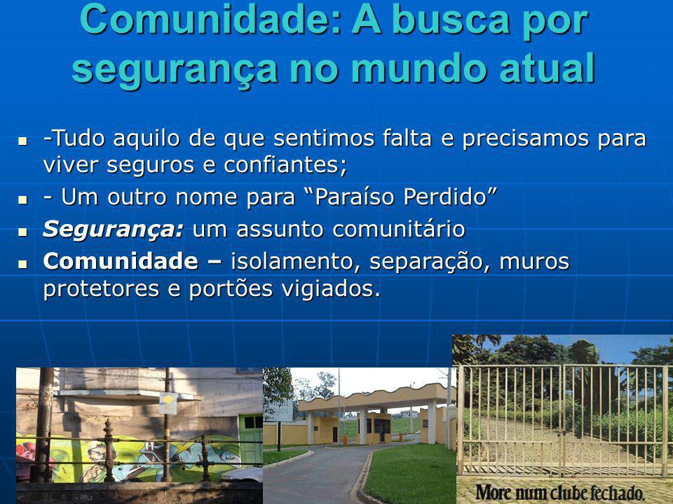 Gueto real – lugares nos quais não se pode sair Gueto real – lugares nos quais não se pode sair Gueto voluntário – lugares em que é impedida a entrada de intrusos.