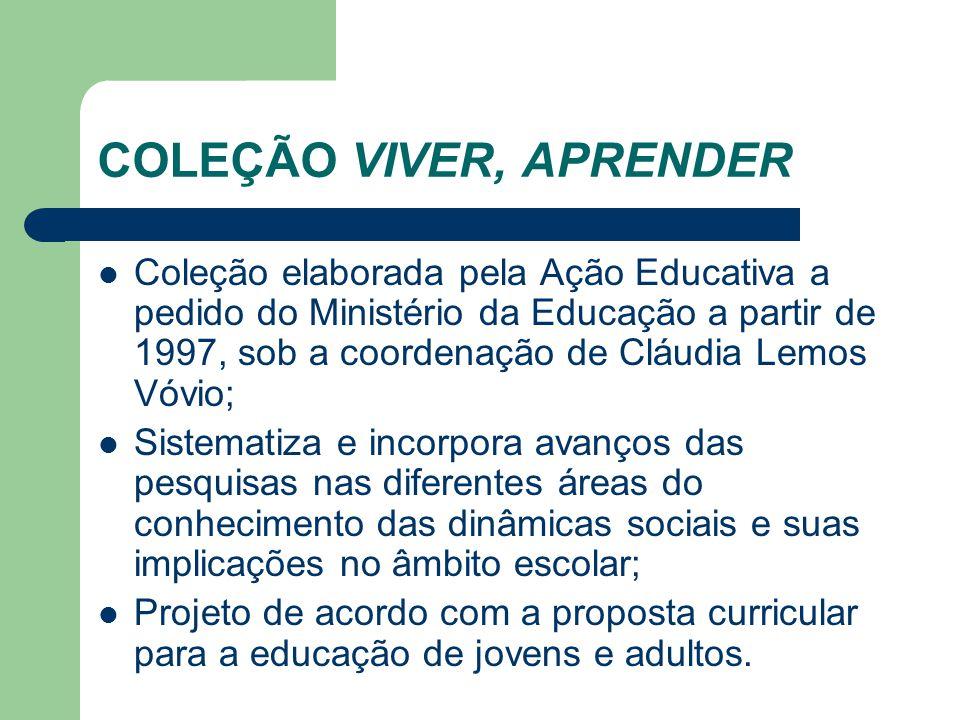 COLEÇÃO VIVER, APRENDER Coleção elaborada pela Ação Educativa a pedido do Ministério da Educação a partir de 1997, sob a coordenação de Cláudia Lemos
