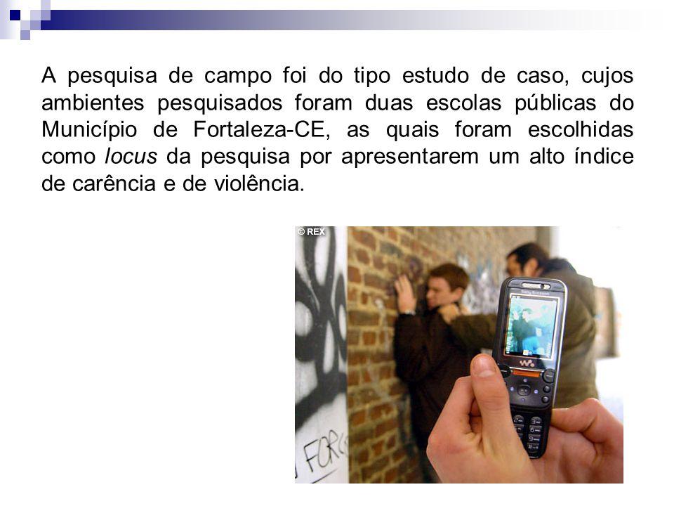 A pesquisa de campo foi do tipo estudo de caso, cujos ambientes pesquisados foram duas escolas públicas do Município de Fortaleza-CE, as quais foram e
