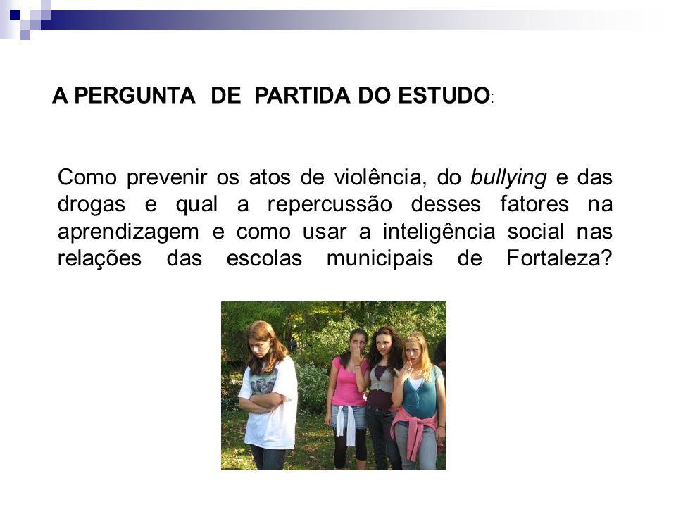 OBJETIVO DO ESTUDO OBJETO DO ESTUDO : A violência visualizada nas escolas públicas e os meios de minimizá-las.