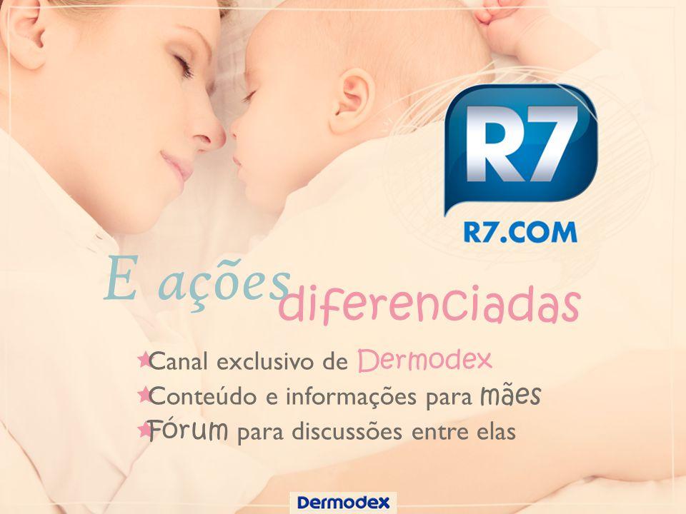 Canal exclusivo de Dermodex Conteúdo e informações para mães Fórum para discussões entre elas diferenciadas E ações