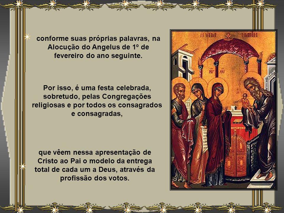 A Liturgia atual enfatiza, principalmente, a figura de Jesus - daí o nome de Festa da Apresentação - mas manteve, antes da Missa, a tradicional bênção