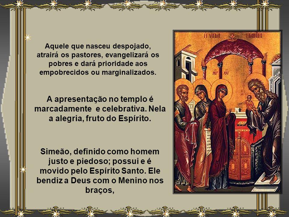 Deste modo, Lucas centraliza a narrativa do primeiro ato cultual de Jesus, através do rito de consagração do primogênito, na Cidade Santa, a ser resga