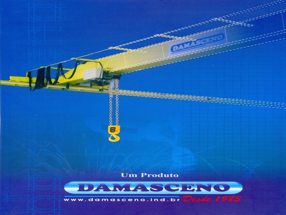 Fundada em 1983, a DAMASCENO LTDA é pioneira na região Norte e Nordeste no que diz respeito a equipamentos de movimentaçao interna de materiais: Pontes rolantes; Monovias; Guindastes giratórios Talhas Elevadores etc.