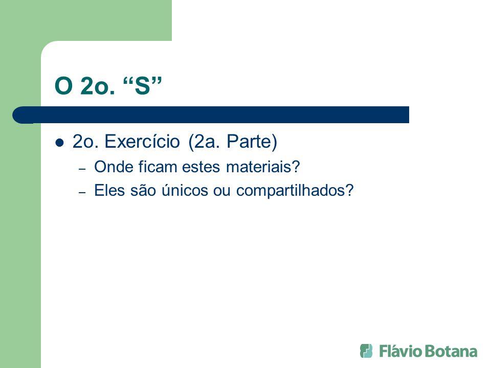 O 2o.S 2o. Exercício (2a. Parte) – Onde ficam estes materiais.