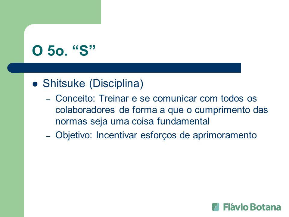 O 5o. S Shitsuke (Disciplina) – Conceito: Treinar e se comunicar com todos os colaboradores de forma a que o cumprimento das normas seja uma coisa fun