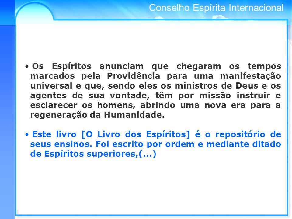 Conselho Espírita Internacional 3 - TRABALHO FEDERATIVO E DE UNIFICAÇÃO DO MOVIMENTO ESPÍRITA