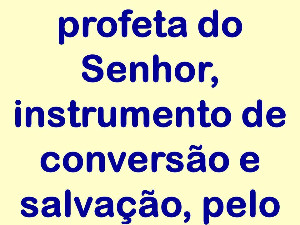 profeta do Senhor, instrumento de conversão e salvação, pelo
