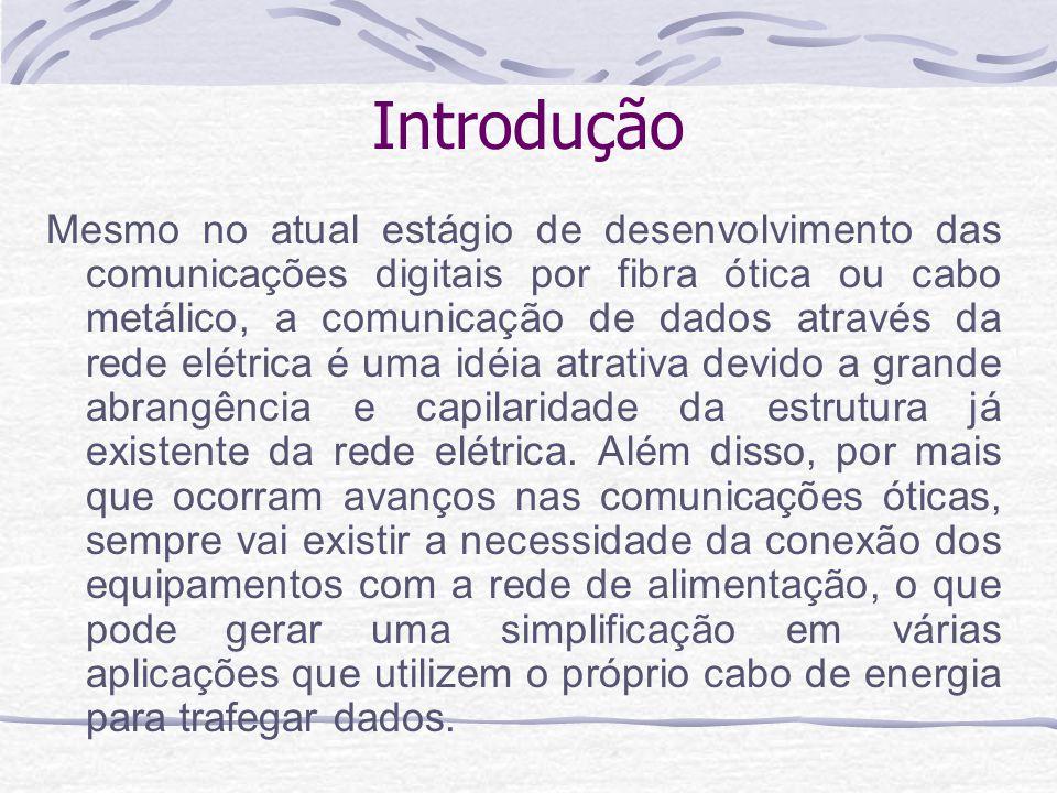 Introdução Mesmo no atual estágio de desenvolvimento das comunicações digitais por fibra ótica ou cabo metálico, a comunicação de dados através da red