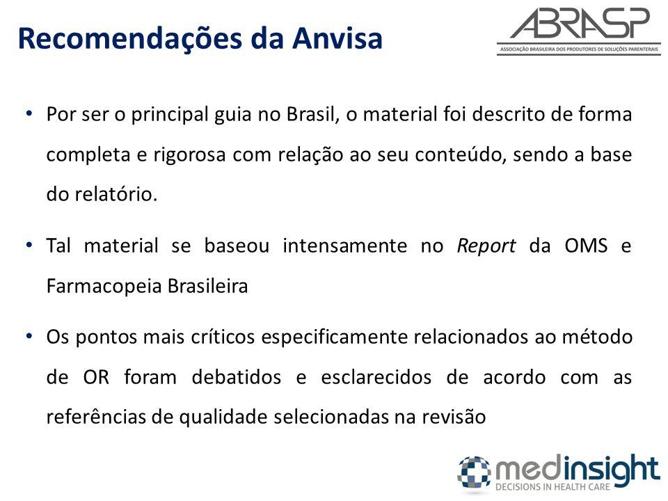 Por ser o principal guia no Brasil, o material foi descrito de forma completa e rigorosa com relação ao seu conteúdo, sendo a base do relatório. Tal m