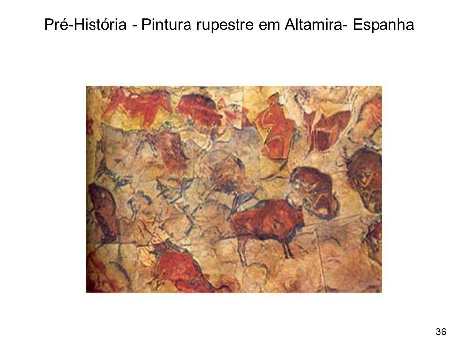 Pré-História - Pintura rupestre em Altamira- Espanha 36