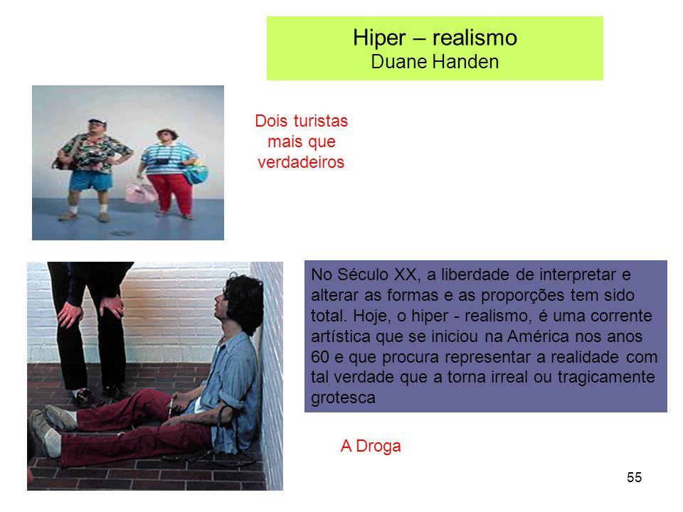 Hiper – realismo Duane Handen Dois turistas mais que verdadeiros A Droga No Século XX, a liberdade de interpretar e alterar as formas e as proporções