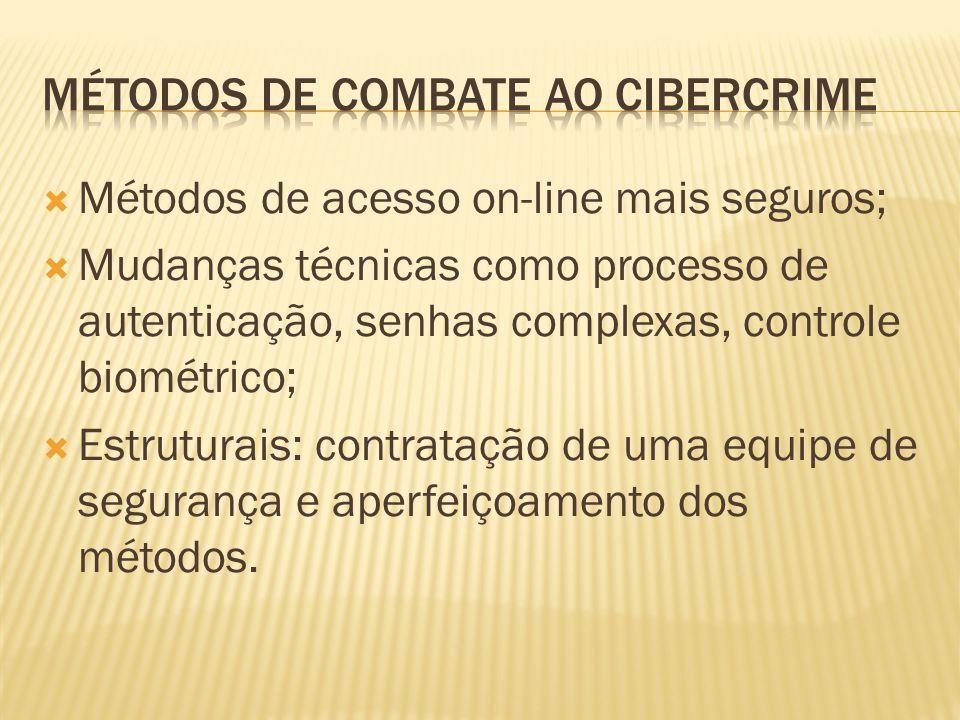 Métodos de acesso on-line mais seguros; Mudanças técnicas como processo de autenticação, senhas complexas, controle biométrico; Estruturais: contrataç