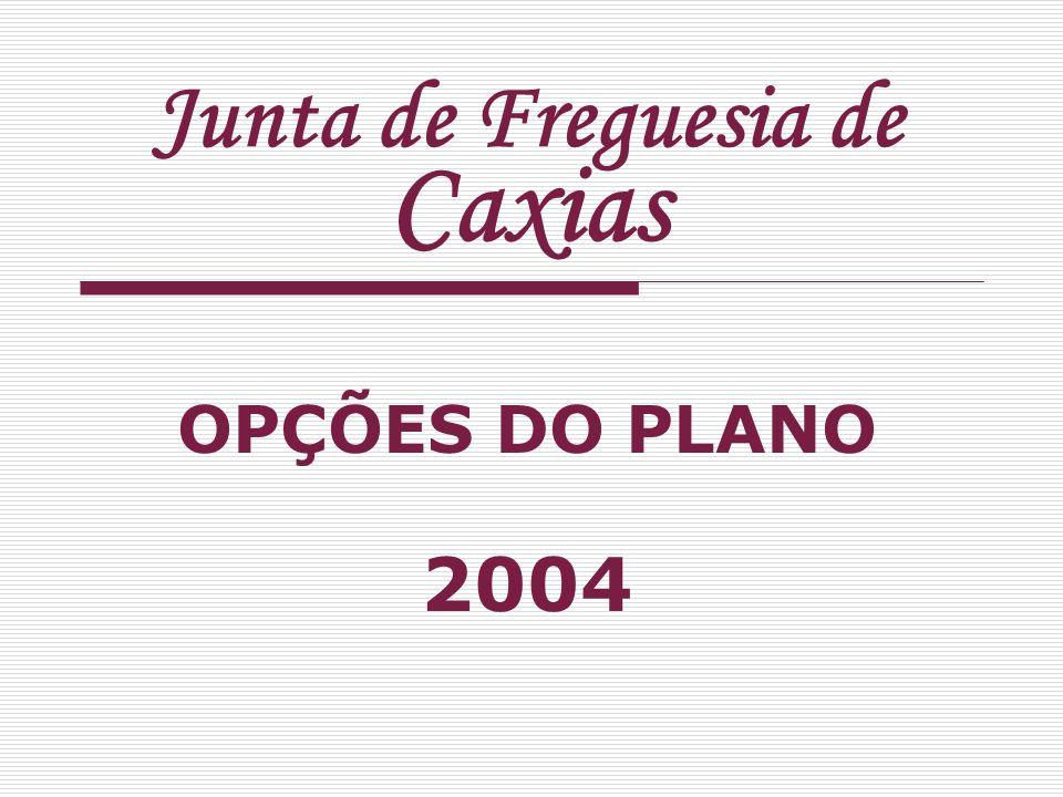 Junta de Freguesia de Caxias OPÇÕES DO PLANO 2004