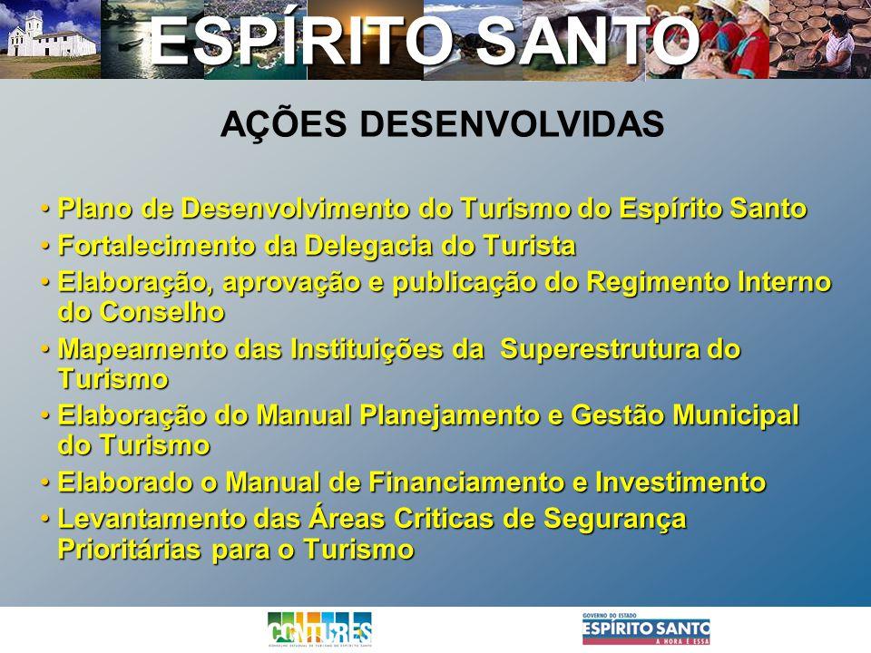 ESPÍRITO SANTO Plano de Desenvolvimento do Turismo do Espírito SantoPlano de Desenvolvimento do Turismo do Espírito Santo Fortalecimento da Delegacia