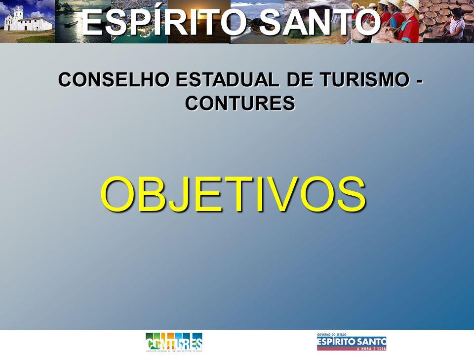 ESPÍRITO SANTO OBJETIVOS CONSELHO ESTADUAL DE TURISMO - CONTURES