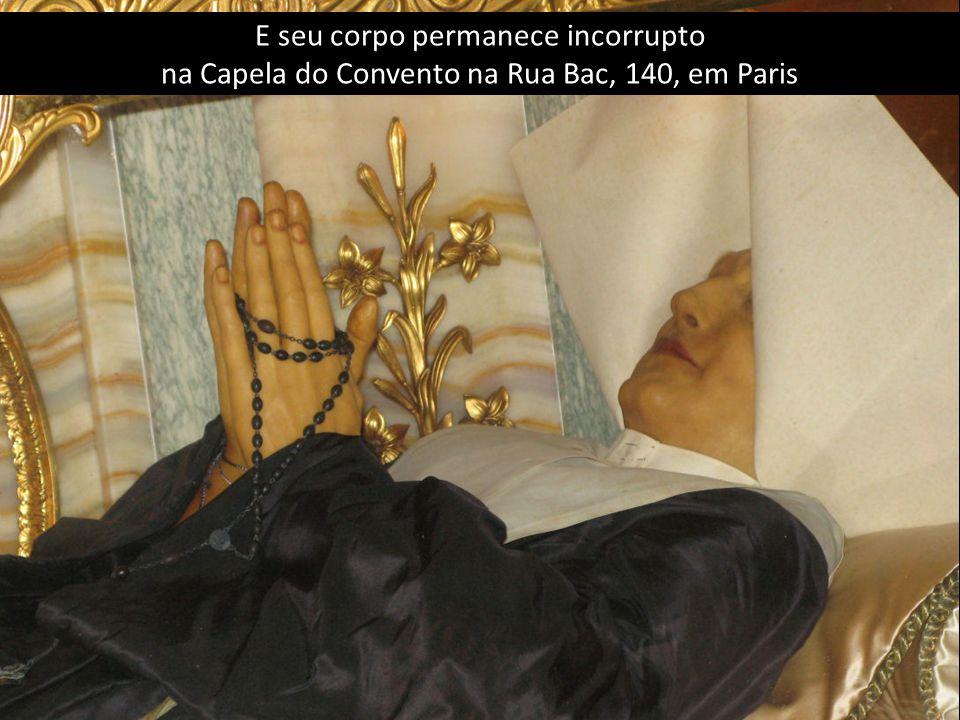 A religiosa que recebeu essa mensagem foi Santa Catarina Labouré.