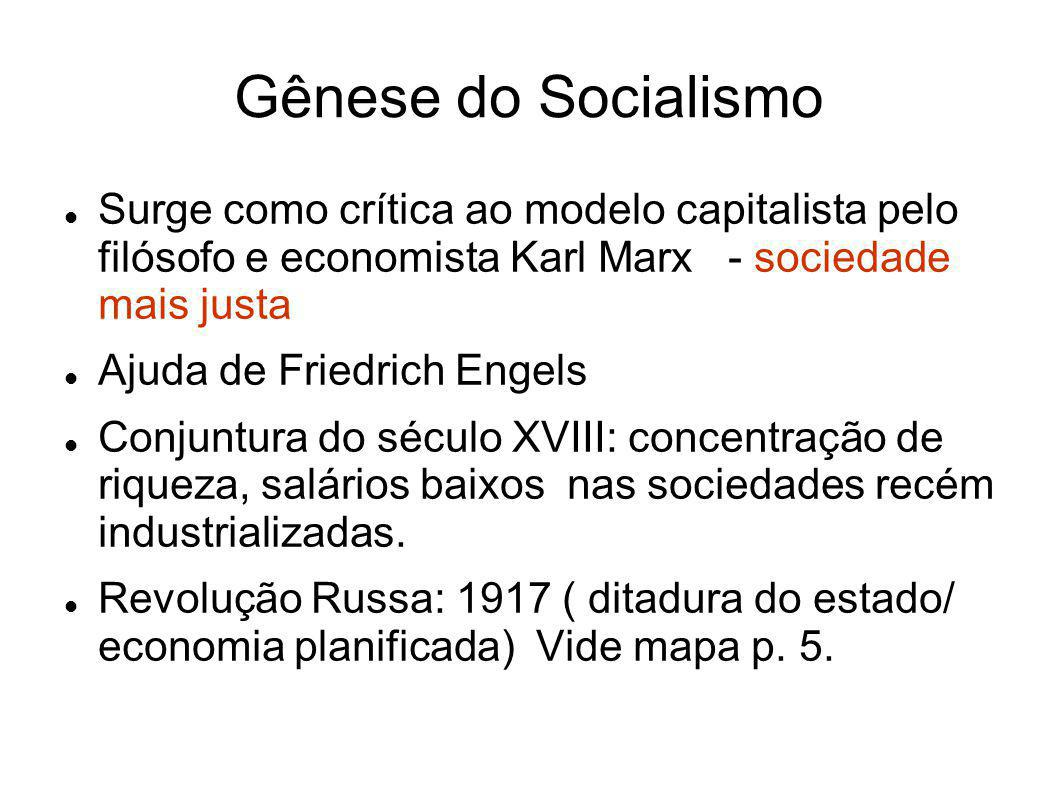 Gênese do Socialismo Surge como crítica ao modelo capitalista pelo filósofo e economista Karl Marx - sociedade mais justa Ajuda de Friedrich Engels Co