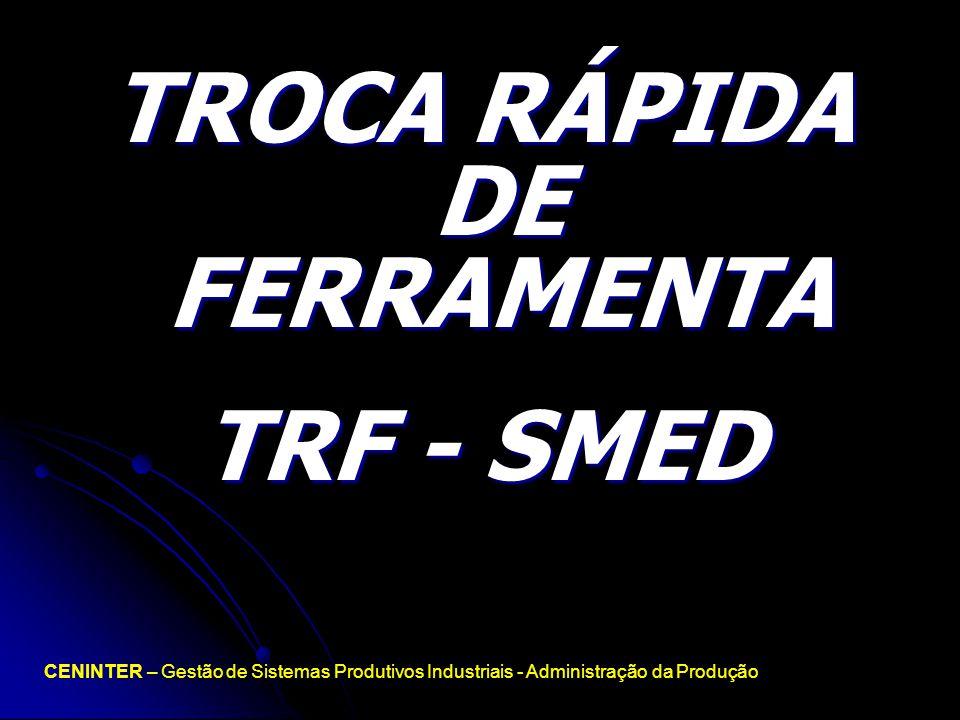 TROCA RÁPIDA DE FERRAMENTA TRF - SMED CENINTER – Gestão de Sistemas Produtivos Industriais - Administração da Produção