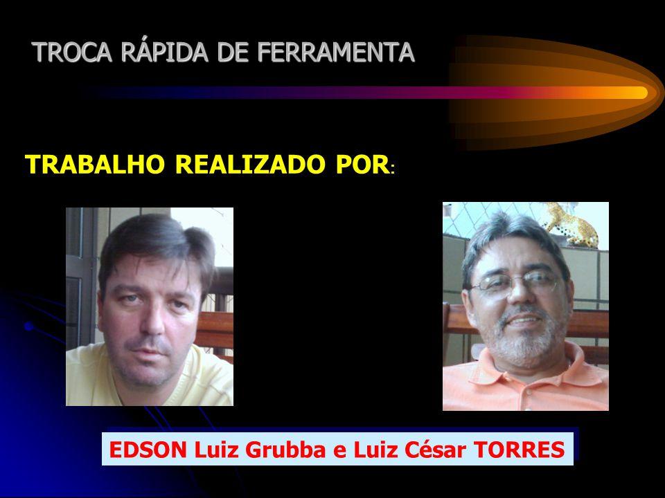 TROCA RÁPIDA DE FERRAMENTA TRABALHO REALIZADO POR : EDSON Luiz Grubba e Luiz César TORRES EDSON Luiz Grubba e Luiz César TORRES