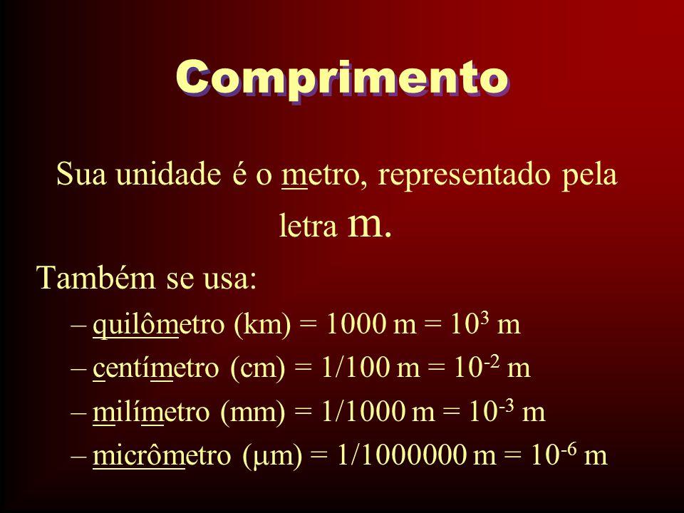 Massa Alguns países utilizam a libra como padrão de massa.