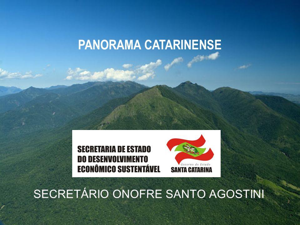 SECRETÁRIO ONOFRE SANTO AGOSTINI PANORAMA CATARINENSE