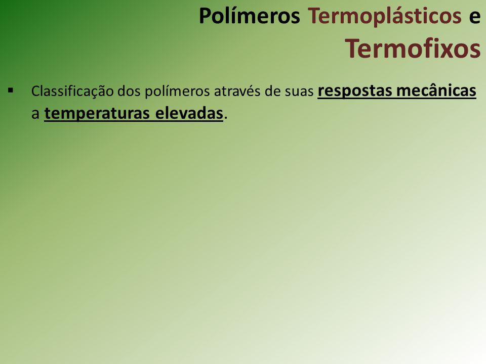 Polímeros Termoplásticos e Termofixos Classificação dos polímeros através de suas respostas mecânicas a temperaturas elevadas.