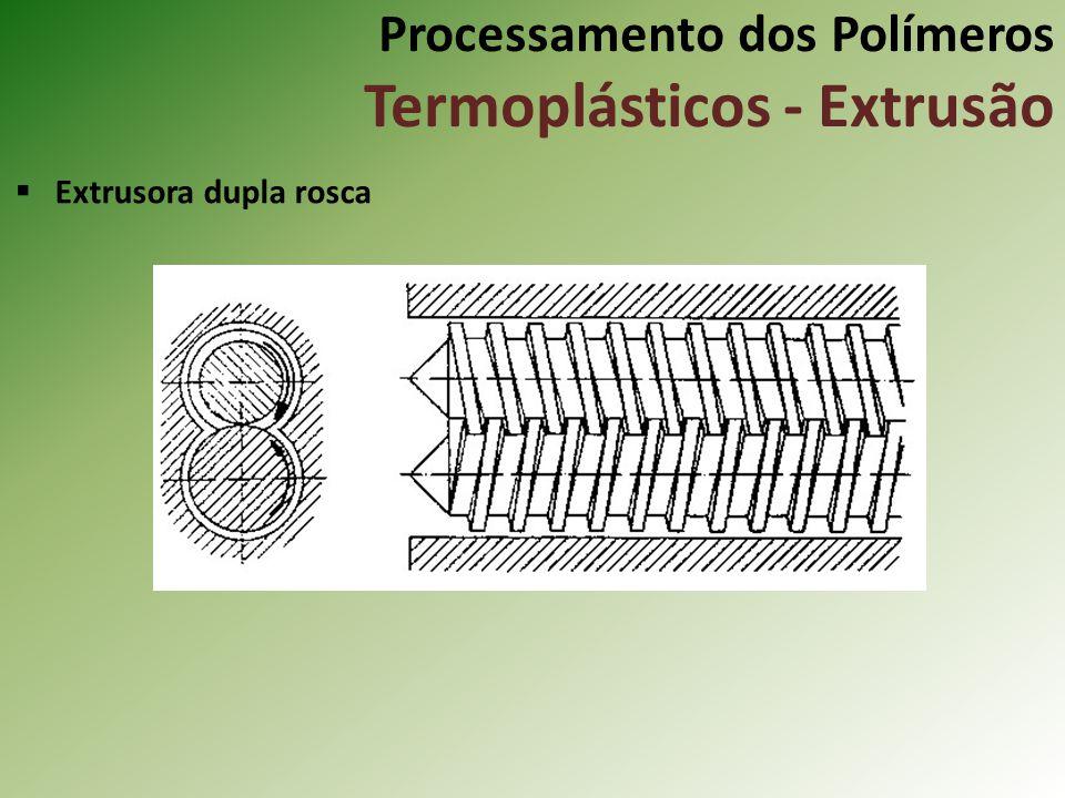 Processamento dos Polímeros Termoplásticos - Extrusão Extrusora dupla rosca
