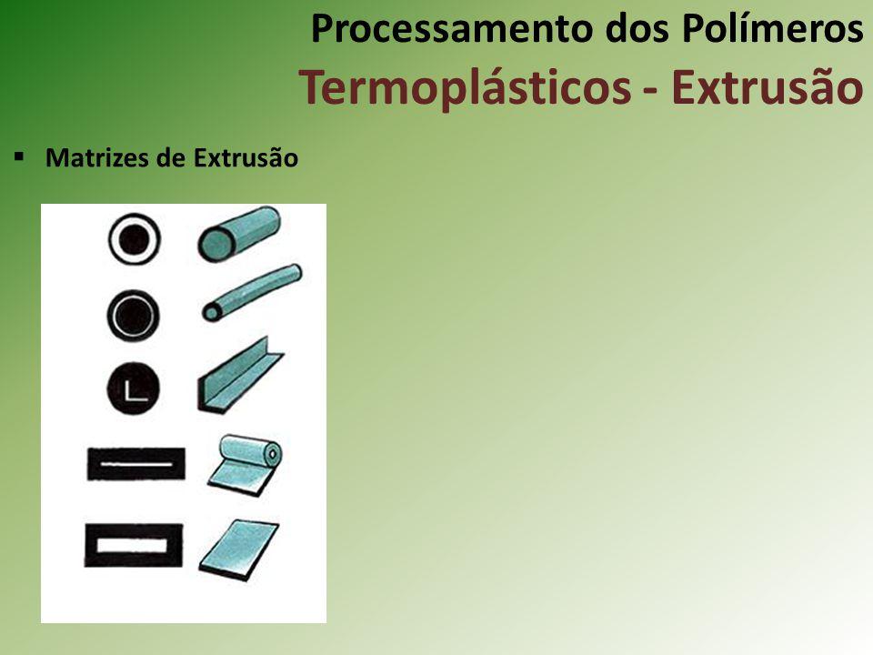 Processamento dos Polímeros Termoplásticos - Extrusão Matrizes de Extrusão