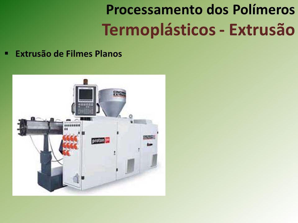 Processamento dos Polímeros Termoplásticos - Extrusão Extrusão de Filmes Planos