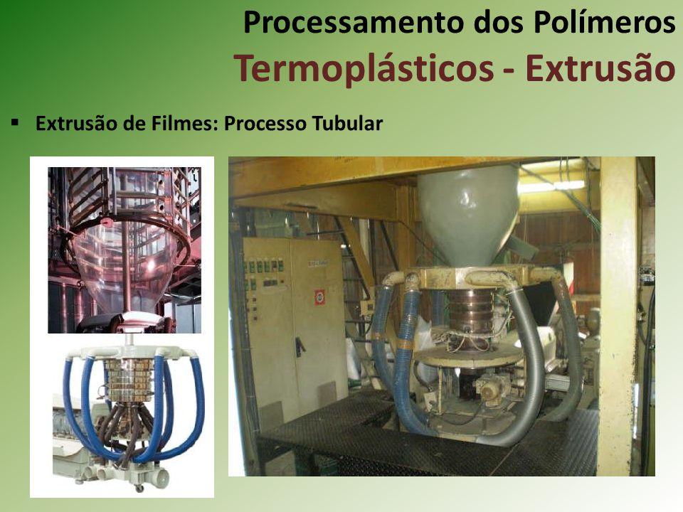 Processamento dos Polímeros Termoplásticos - Extrusão Extrusão de Filmes: Processo Tubular