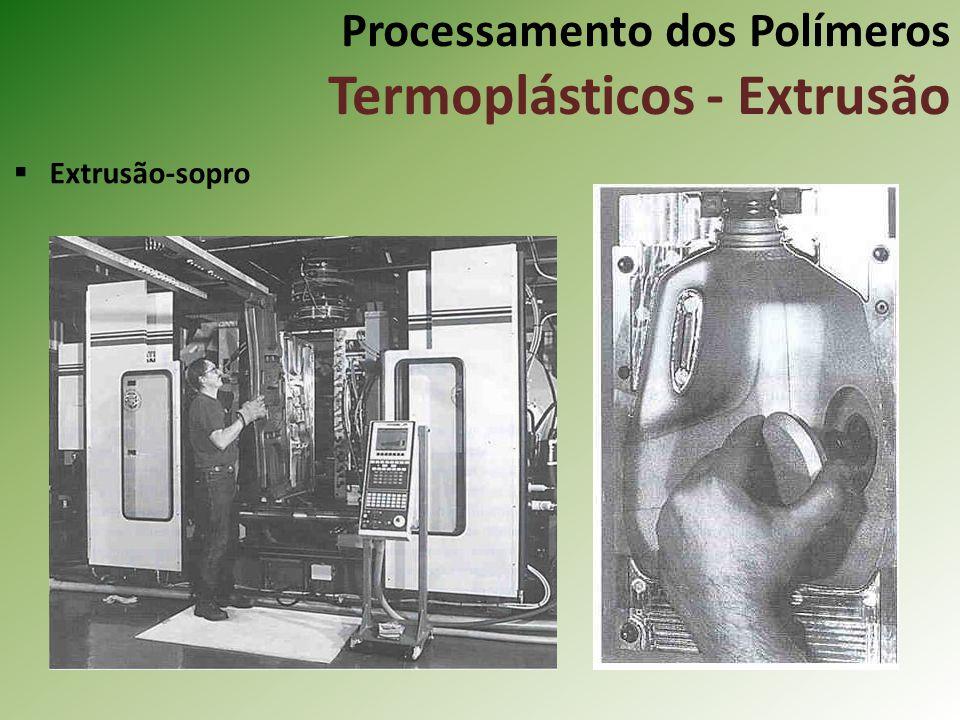 Processamento dos Polímeros Termoplásticos - Extrusão Extrusão-sopro
