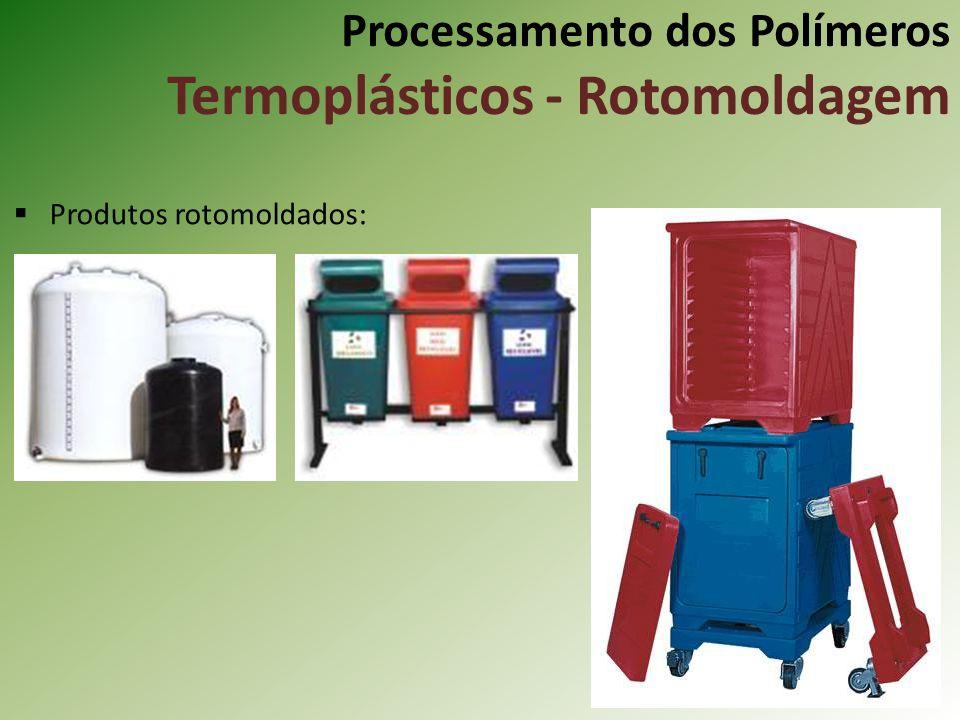 Processamento dos Polímeros Termoplásticos - Rotomoldagem Produtos rotomoldados: