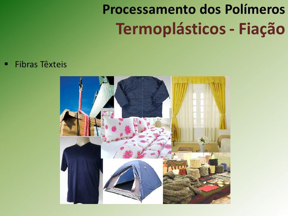 Processamento dos Polímeros Termoplásticos - Fiação Fibras Têxteis