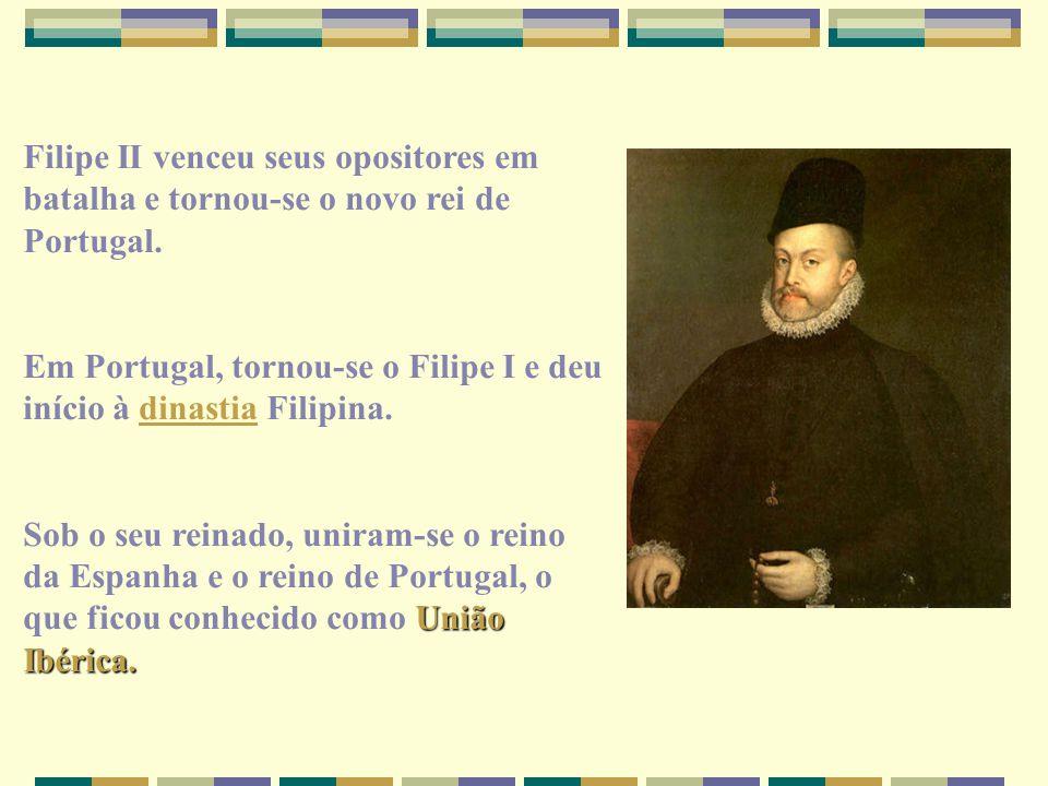 Filipe II venceu seus opositores em batalha e tornou-se o novo rei de Portugal. Em Portugal, tornou-se o Filipe I e deu início à dinastia Filipina.din