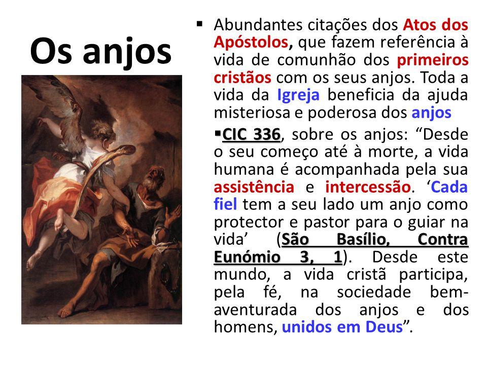 Os anjos Assistência dos anjos no NT Assistência dos anjos no NT São Gabriel: anunciação de João Baptista e de Jesus. Intervenção dos anjos em toda a